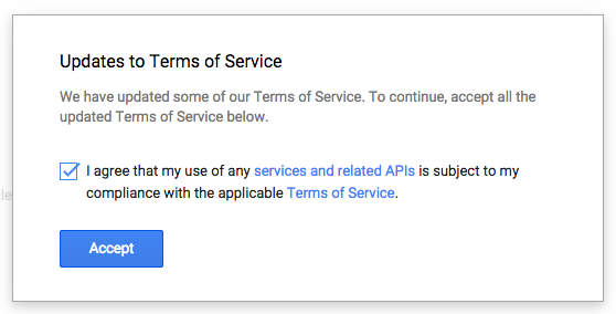 image of updated terms of service