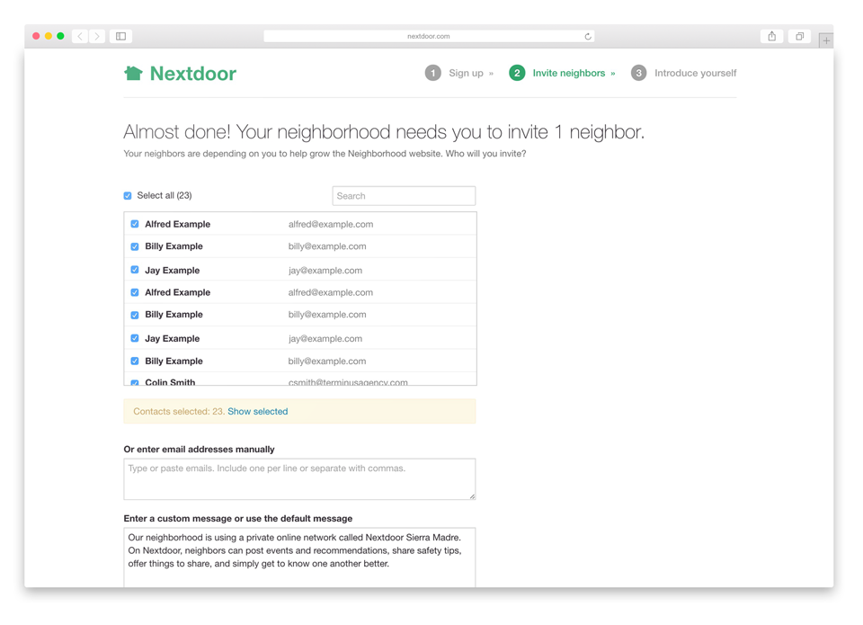 How nextdoor uses cloudsponge to trigger viral growth and accelerate in just a few clicks its simple to invite dozens of neighbors from your address book thanks to nextdoors integration with cloudsponge solutioingenieria Image collections