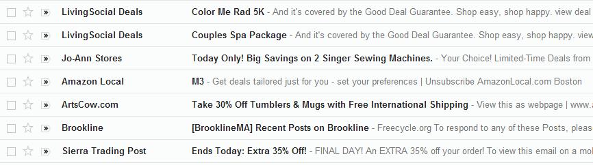 Inbox example